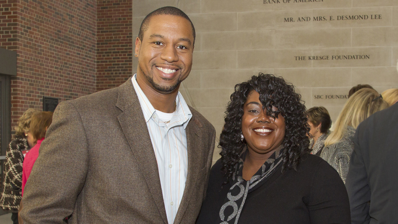 UMSL engineering alumni Cedric Cook and Shirley Jenkins
