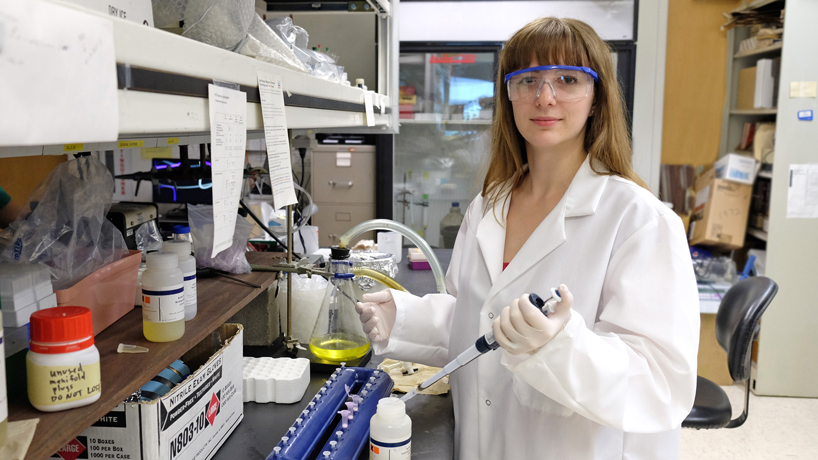 UMSL PhD student earns science award, lands job at Monsanto
