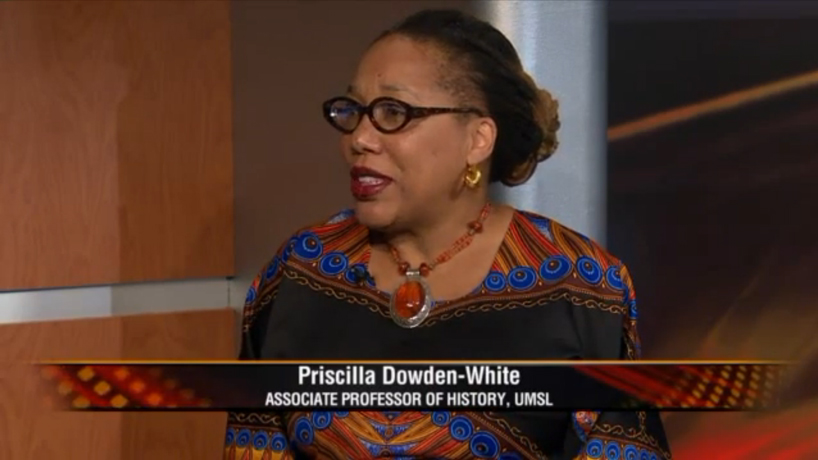Priscilla Dowden-White, associate professor of history at UMSL