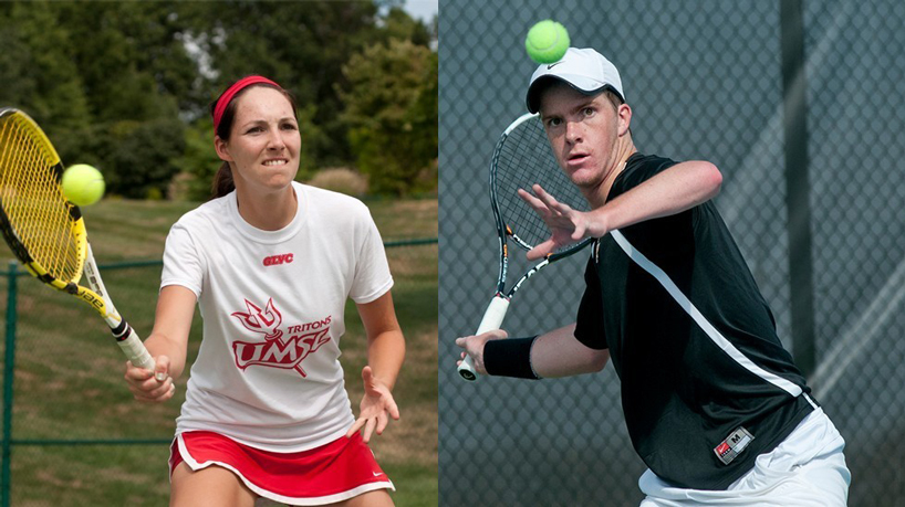 UMSL tennis players Louisa Werner and Harry Heyburn