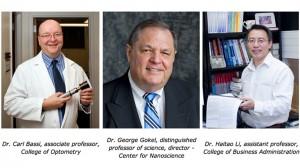 UMSL scientists Carl Bassi, George Gokel and Haitao Li