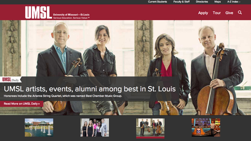 Check out the new UMSL website