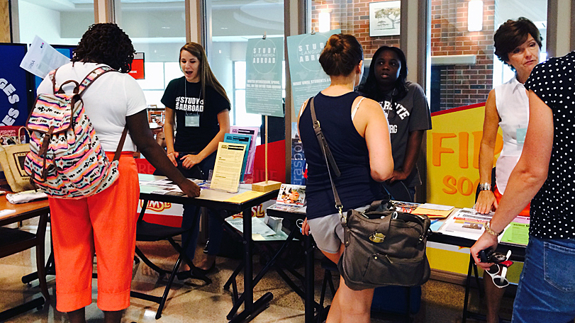 Students explore study abroad opportunities