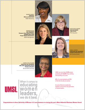 UMSL alumni and 5 of the most influential business women in St. Louis