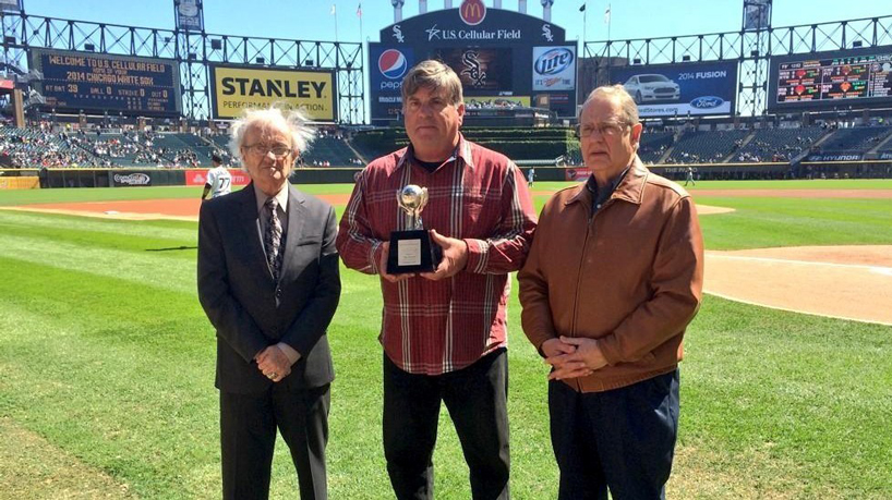 UMSL Sports Hall of Famer John Kazanas receives 2014 Roland Hemond Award from Chicago White Sox