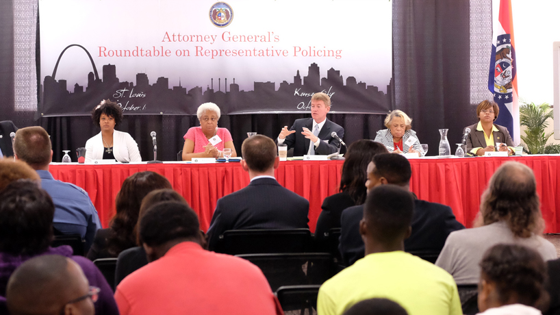Missouri attorney general holds representative policing roundtable at UMSL