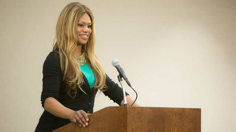 Laverne Cox wows crowd, calls for love, conversation