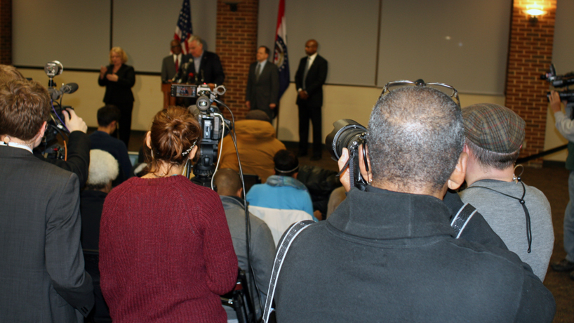 Gov. Nixon, St. Louis leaders address public at UMSL