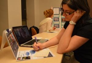 UMSL graduate student Lisa Clark
