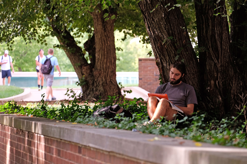 UMSL student Robert Perks in the Quad