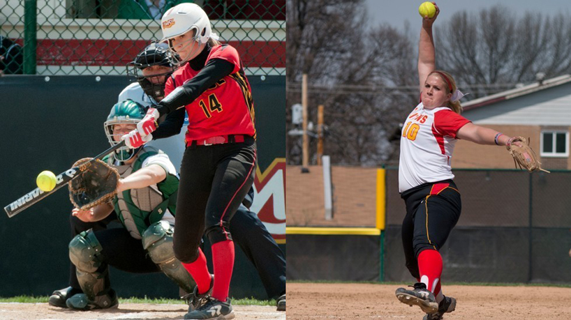 Softball sweeps weekly GLVC awards as Zbaraschuk, Chapman are honored