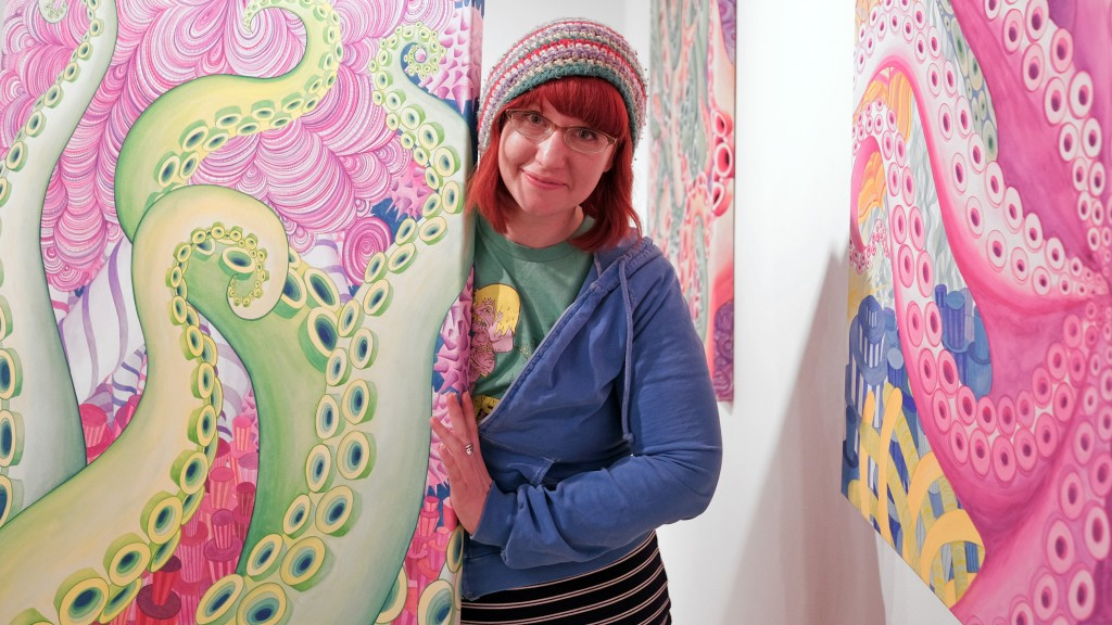 UMSL alumna Caitlin Funston's show Aqeous will be at Gallery Visio until March 11. (Photo by August Jennewein.)