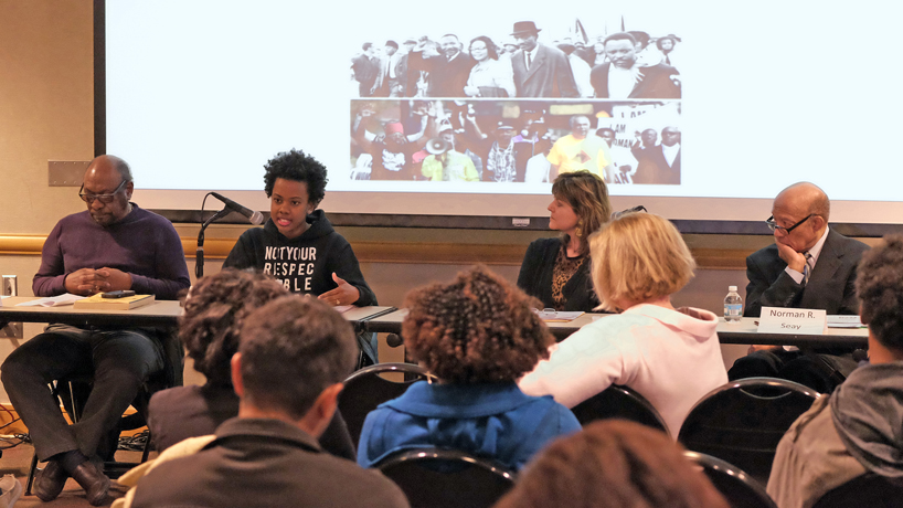 Campus forum considers protests past and present