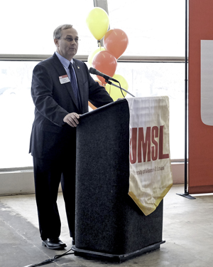 Larry Davis, dean of the College of Optometry at UMSL
