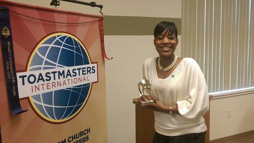 Triton Toastmasters' Marquetta Anderson wins division speech contest