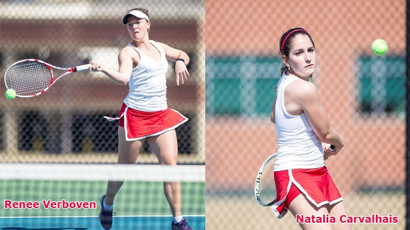 Verboven, Carvalhais earn All-GLVC honors in women's tennis