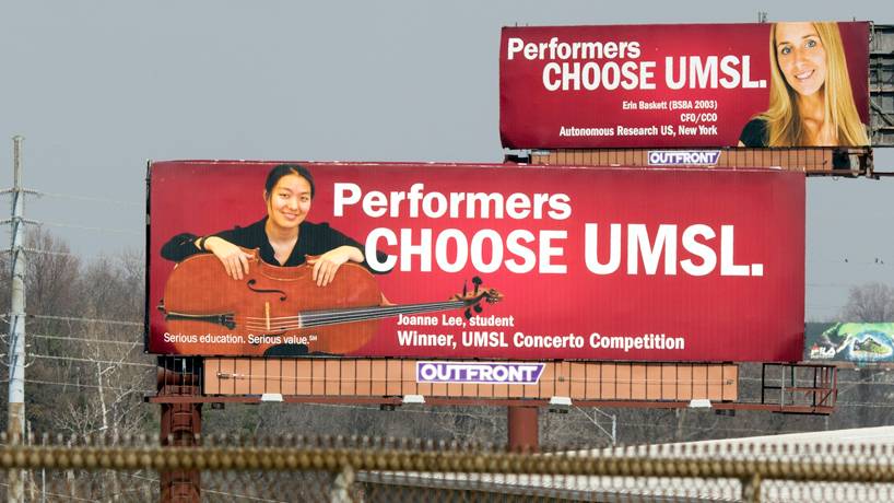 National magazine showcases successful 'I Chose UMSL' billboard campaign
