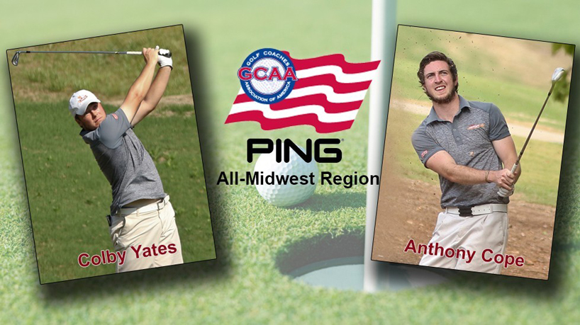 Yates, Cope of men's golf named to Division II PING All-Region Team
