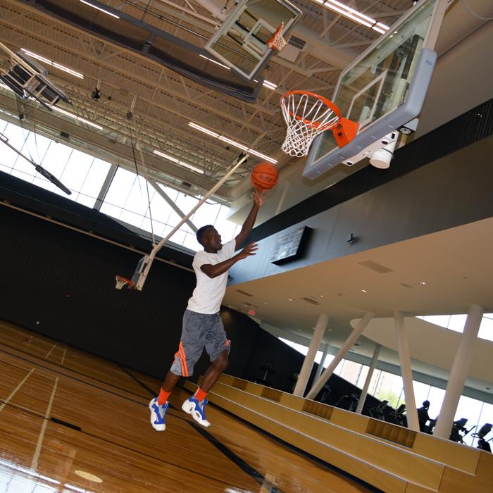 Caleb Wilkerson shooting hoops