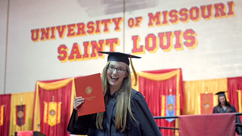 Eye on UMSL: Degree in hand