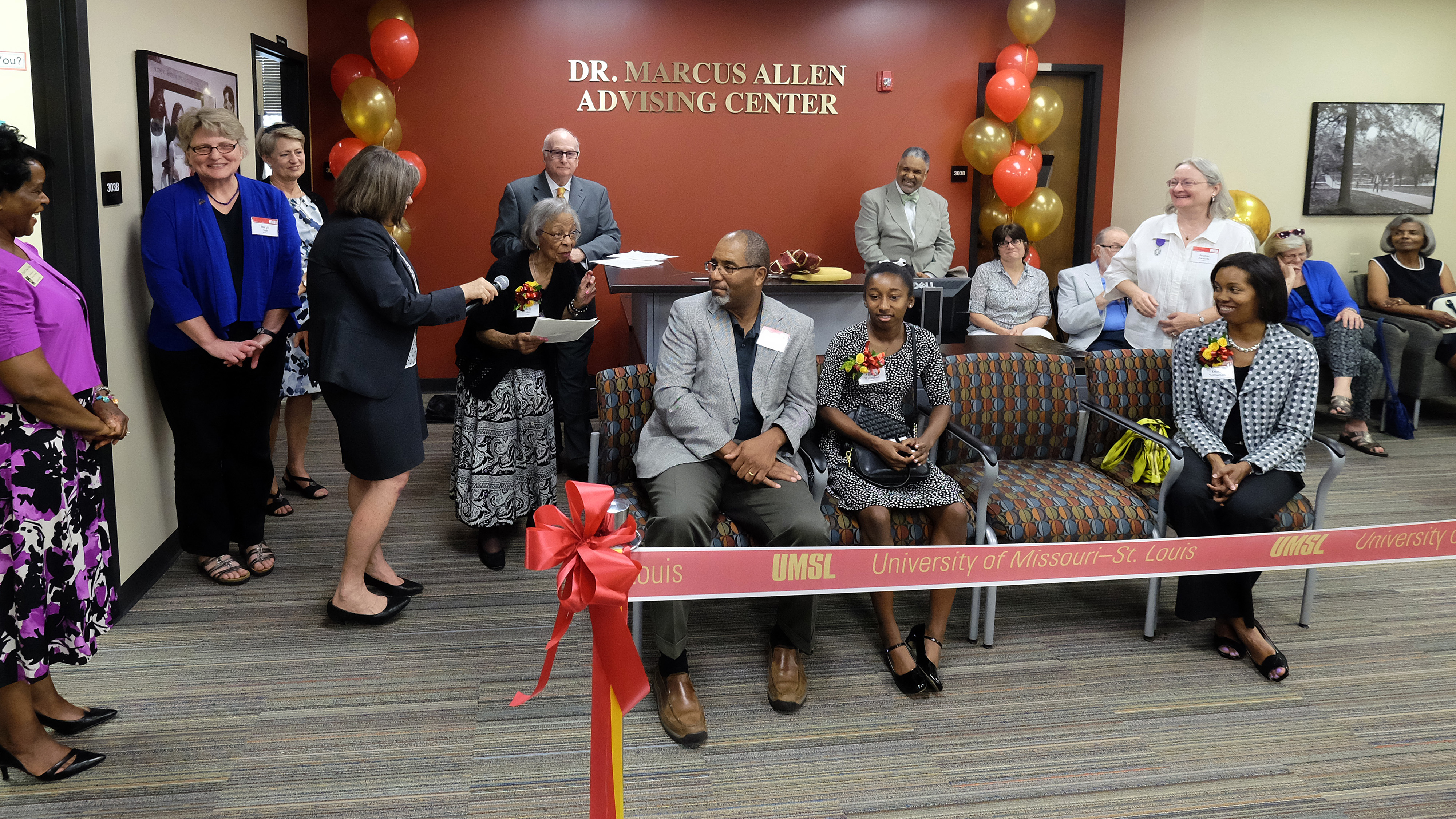 Marcus Allen Advising Center dedicated to UMSL's first African American faculty member