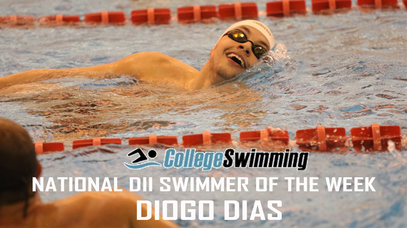 Dias named CollegeSwimming.com DII National Swimmer of the Week