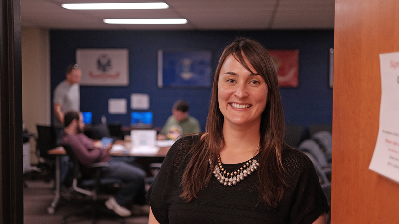 Veterans Center's first full-time manager makes student success her mission