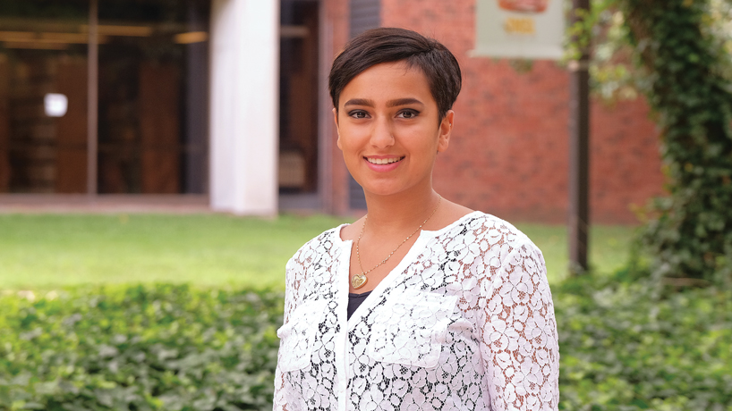 Business student Nour Salmeen benefits from big-city opportunities at UMSL