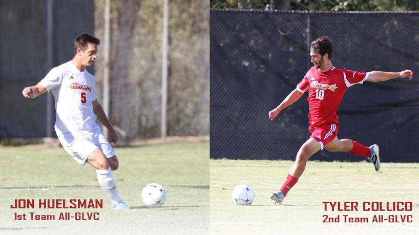 Huelsman, Collico garner All-GLVC honors in men's soccer