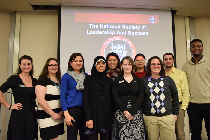 NSLS chapter applauds 3 faculty members, inducts 50 more students