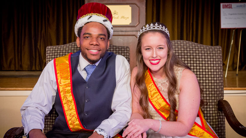 2016 king and queen talk homecoming, UMSL life, Louie