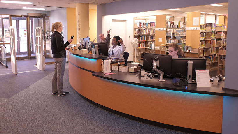 Library's service desk gets a student-friendly makeover
