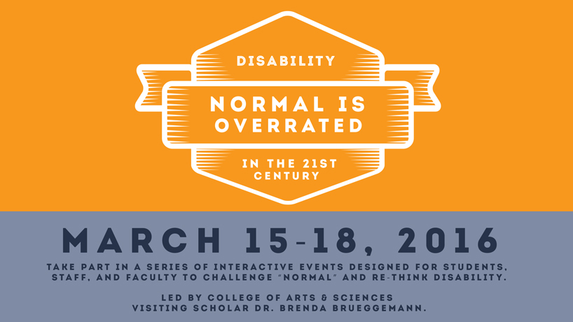 'Normal is Overrated' series brings disability studies to the fore