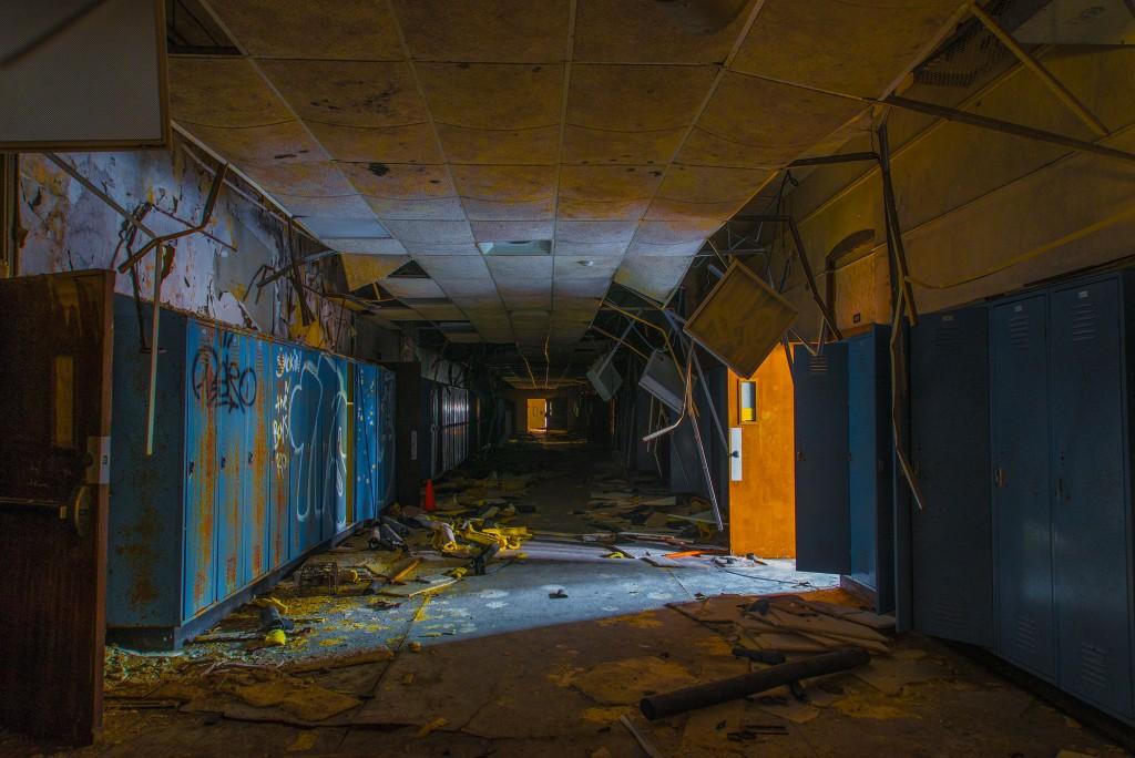 main basement hallway