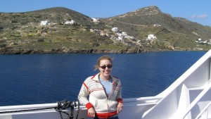 In 2006, Bryonie Carter took a ferry ride through the Mediterranean that helped her realize her desire to explore how myth, symbolism and language define culture and humanity. (Photo courtesy of Bryonie Carter)