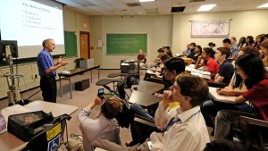 UMSL Chancellor Tom George was just one of the many researchers brought in for the 2015 STARS program, which offers lectures from top area experts in various STEM fields. George lectured on the different states of matter, focusing mainly on his work with carbon clusters.