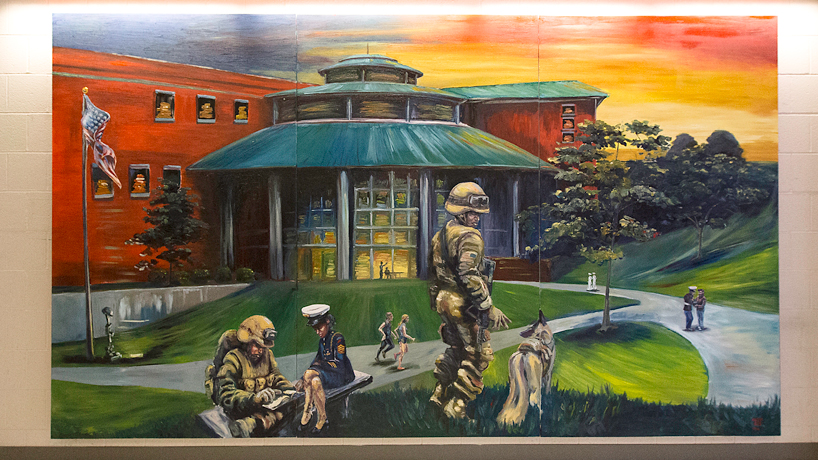 Veteran mural by Michael Wattle