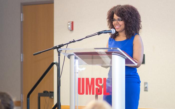 Ashlee Roberts speaking at NSLS April 2016