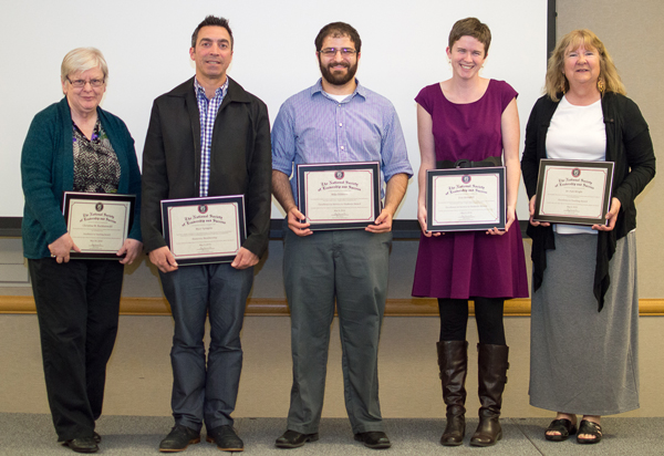 NSLS faculty and staff awardees