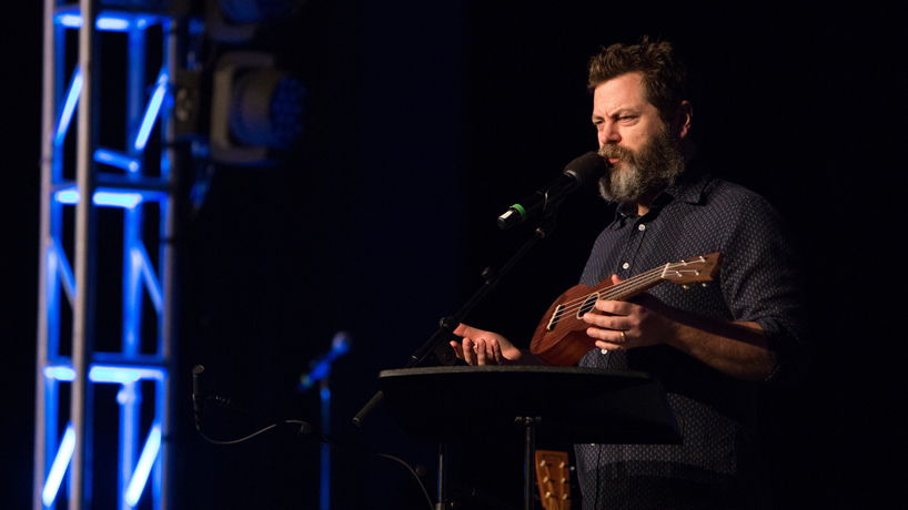 On comedy, corn and common sense: Mirthweek conversations with Bo Burnham and Nick Offerman