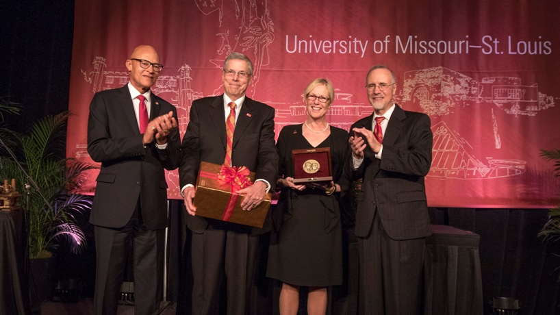 Louder than words: Glendale couple receives UMSL fundraising award
