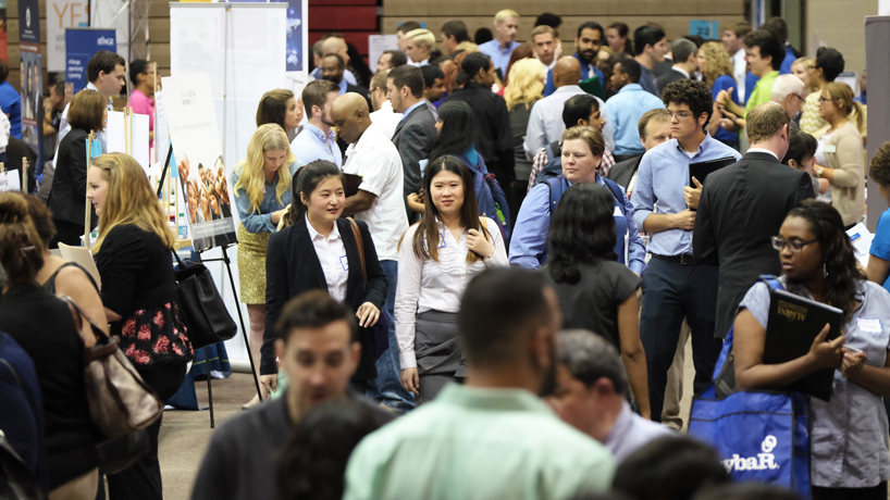 Hundreds of students, alumni and employers make countless connections at UMSL Internship & Job Fair