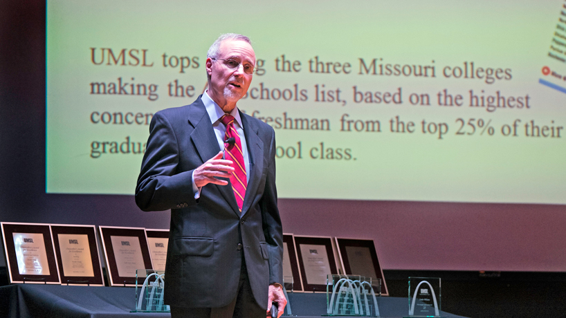 UMSL chancellor sees exciting days ahead