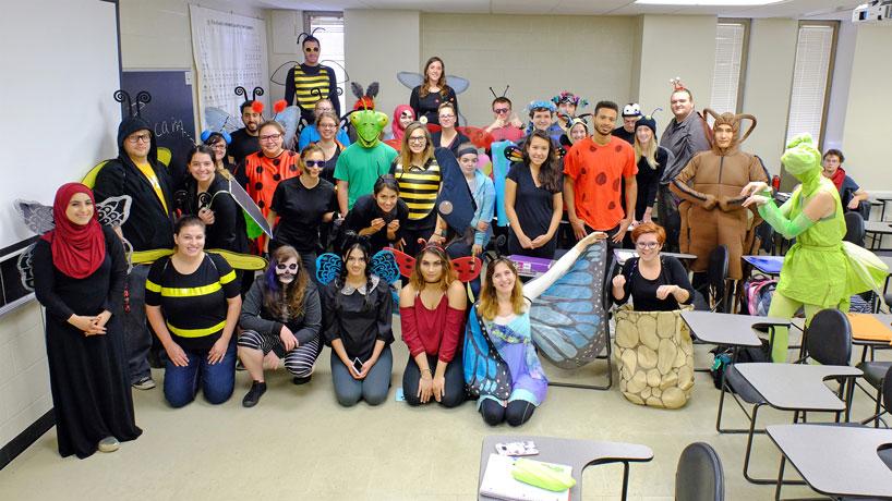 A creepy-crawly Halloween in UMSL entomology class