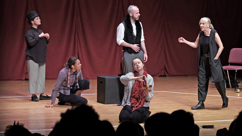 A timely play, a week at UMSL and critical thinking in iambic pentameter