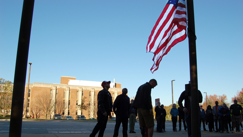 UMSL raises the flag for Veterans Day