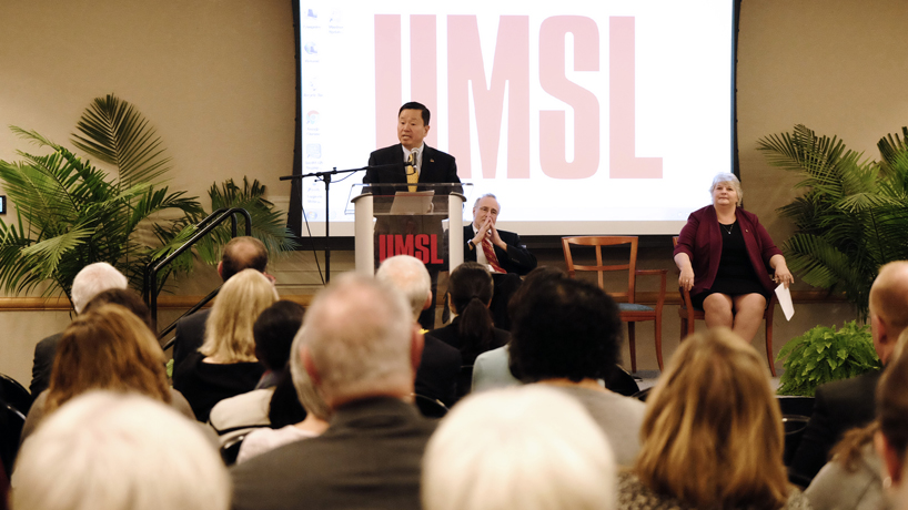 UMSL first stop for incoming UM System president