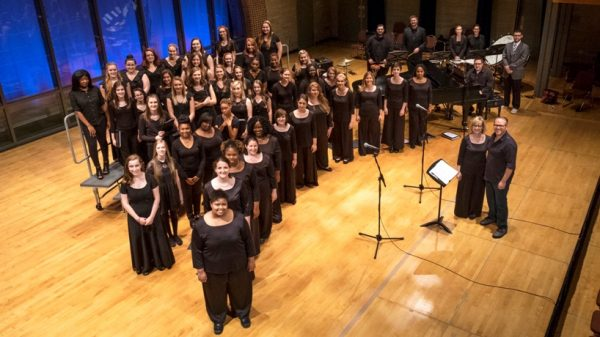 Women's Chorale with high school singers