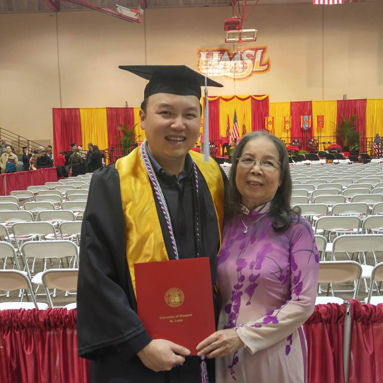 Tam Nguyen at his UMSL graduation