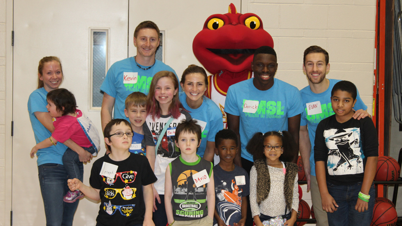 Student-athletes provide day of fun for children facing life-threatening illnesses